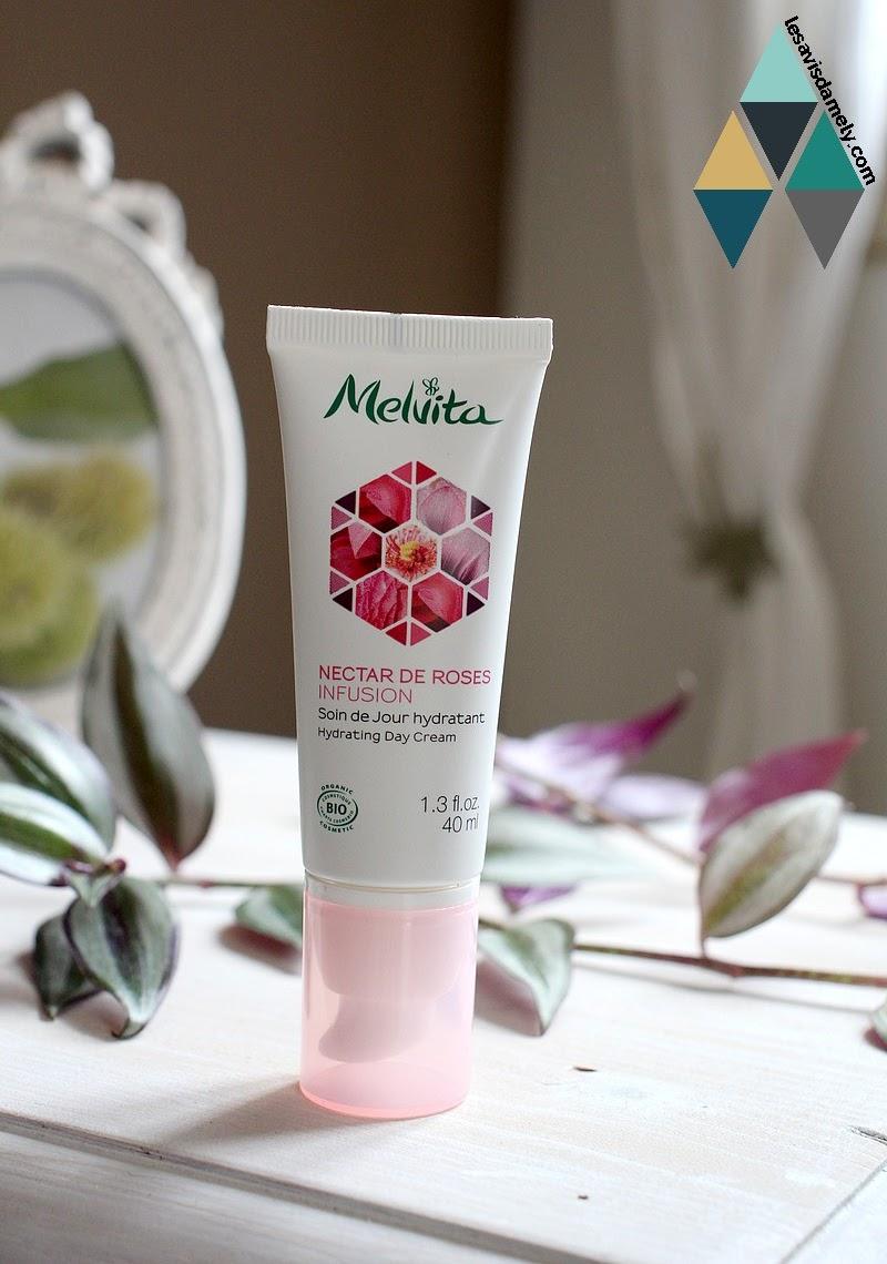 avis et test soin de jour hydratant naturel à la rose melvita
