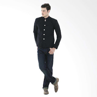 Crows Denim Gakuran School Style Jas Pria - Hitam