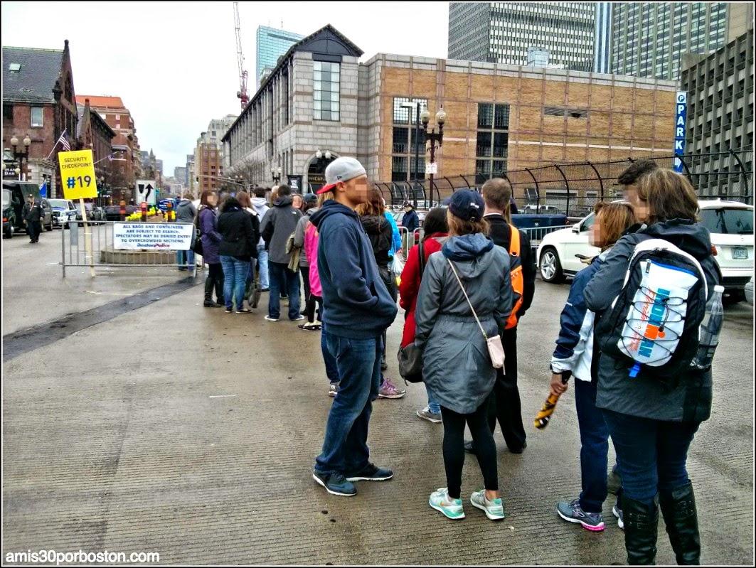 Maratón de Boston 2015: Inspección a la Entrada