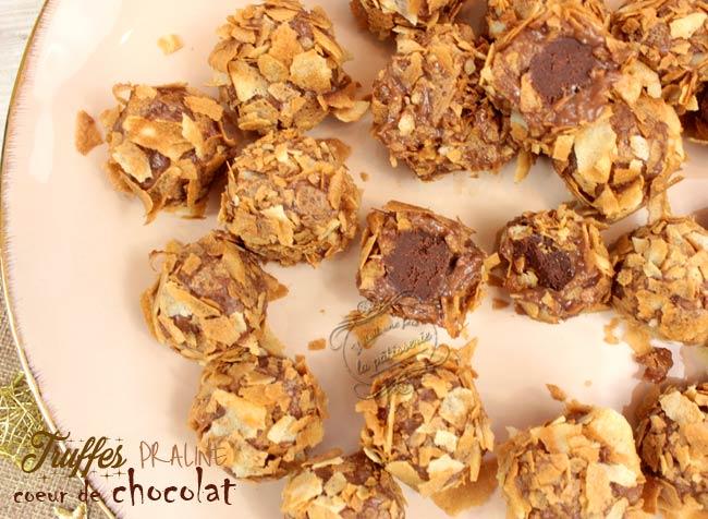 recette de truffes praliné
