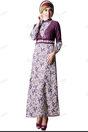 Model Baju Batik Terusan Muslim