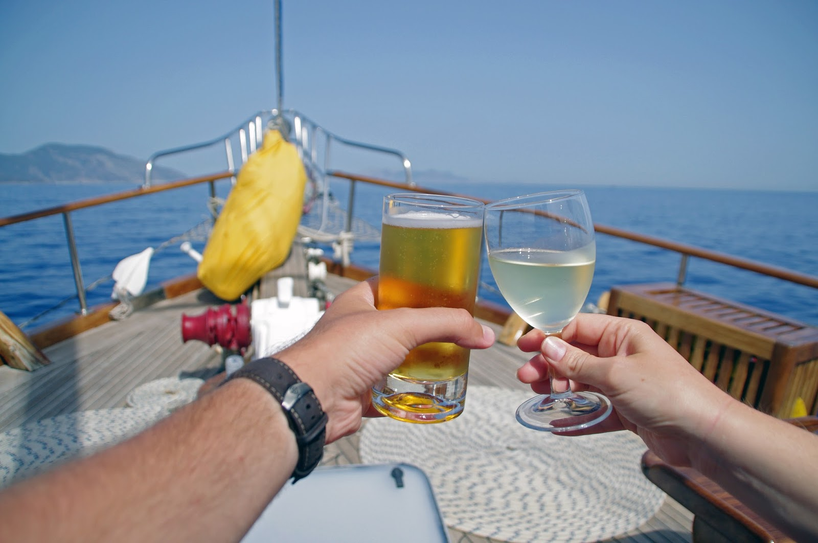 Cheers to sailing in Turkey