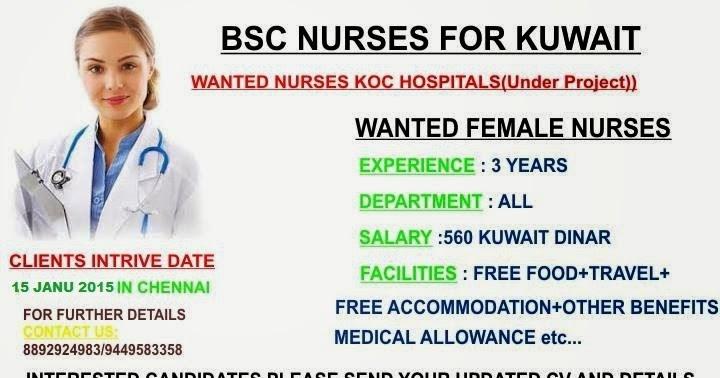 Nurses Job Vacancies Kuwait Jobhunferfb