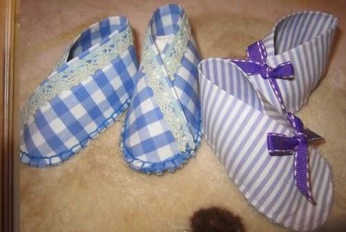 sapatilhas feitas de tecido