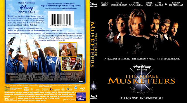 The Three Musketeers (1993) Bluray Cover
