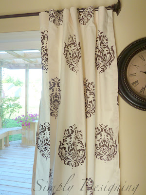 Curtains13 DIY Stenciled Curtains and a {GIVEAWAY} from Cutting Edge Stencils 45