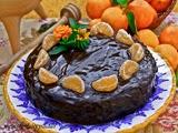 Bizcocho de Mandarina con Baño de Chocolate