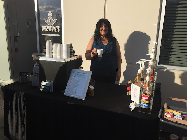 Coffee Cart in Edmonton serving top quality coffee at an on location event.