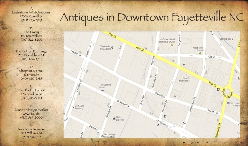 Antiques In Downtown Fayetteville N C Lodestone Art
