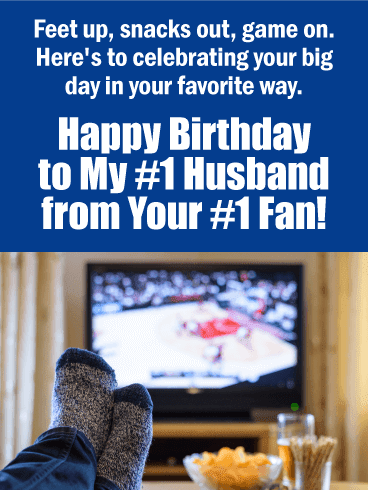 Send this From Your #1 Fan – Happy Birthday Card for Husband