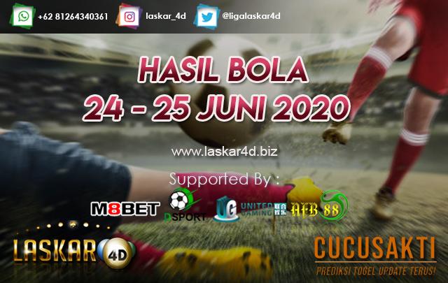 HASIL BOLA JITU TANGGAL 24 - 25 JUNI 2020