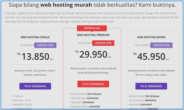 web hosting indonesia, hosting terbaik, hosting murah, domain murah