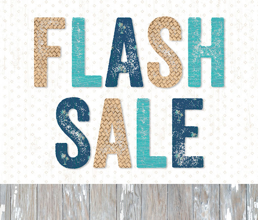 24 Hour FLASH Sale starting at 4 pm!