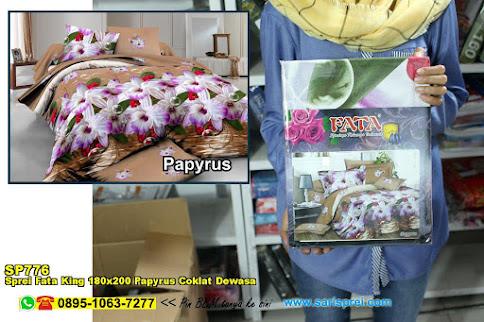 Sprei Fata King 180x200 Papyrus Coklat Dewasa