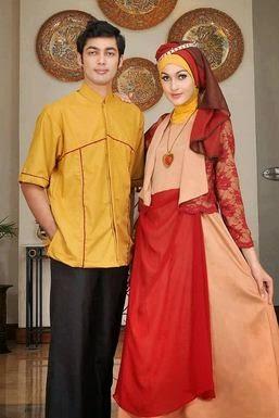Contoh model baju muslim untuk pesta sarimbit keren
