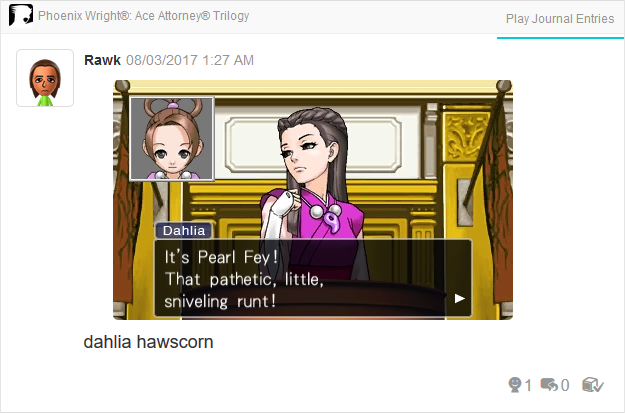 Phoenix Wright Ace Attorney Trials and Tribulations Dahlia Hawthorne Pearl Fey