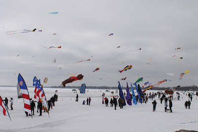 Color the Wind Kite Festival, Clear Lake, Iowa, February 20, 2016