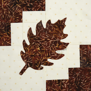modern oak leaf block in vol 14 Quiltmaker's 100 blocks