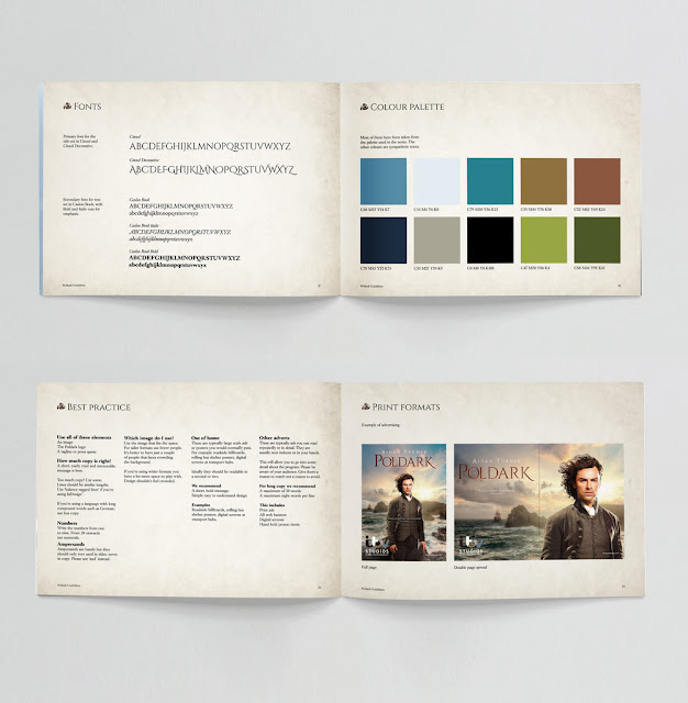 Poldark Brand Guide, style guide, LCDesign, ITVS GE, Aidan Turner