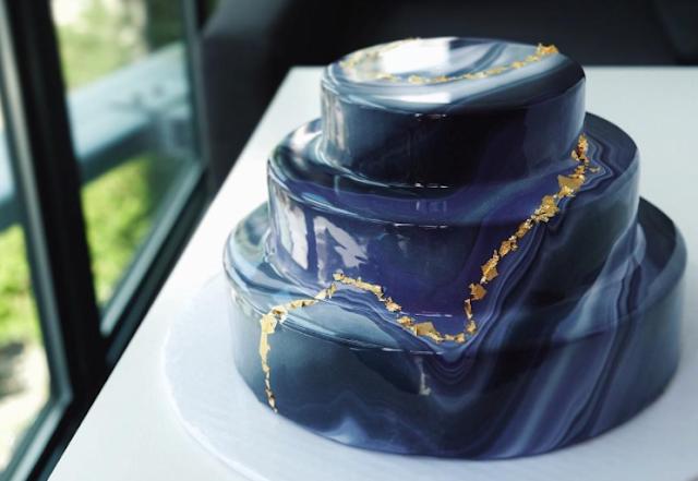 tarta de boda mirror glaze - blog mi boda