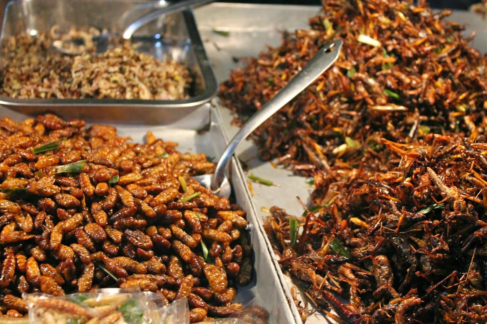 Pensieri in Viaggio Bangkok il mercato dei fiori e la prima volta con gli insetti