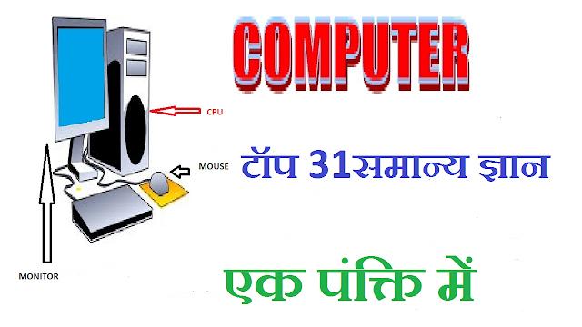Top-15, Computer GK Examination in Hindi