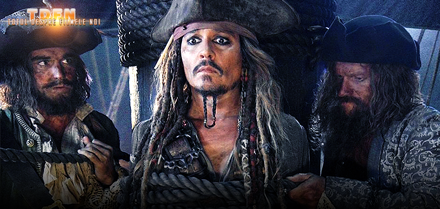 În prima imagine din Pirates Of The Caribbean: Dead Man Tell No Tales îl putem vedea pe Căpitanul Jack Sparrow