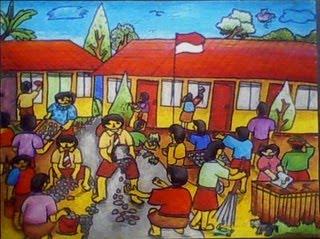 Gambar Kerja Bakti Di Lingkungan Sekolah Kartun Trend 10 Gambar Kartun Kerja Bakti Di Sekolah Paling Dicari