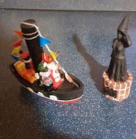 Sinter claas und zwarte Piet  auf dem Stoomboot