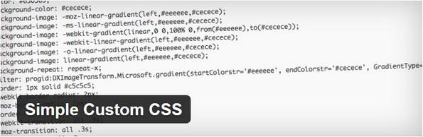 Simple custom CSS plugin for WordPress blogs