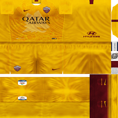 PES 6 Kits AS Roma Season 2018/2019 by FacaA/Ngel