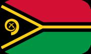 Rounded flag of Vanuatu