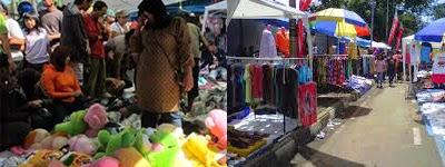 wisata belanja di pasar kaget gasibu bandung