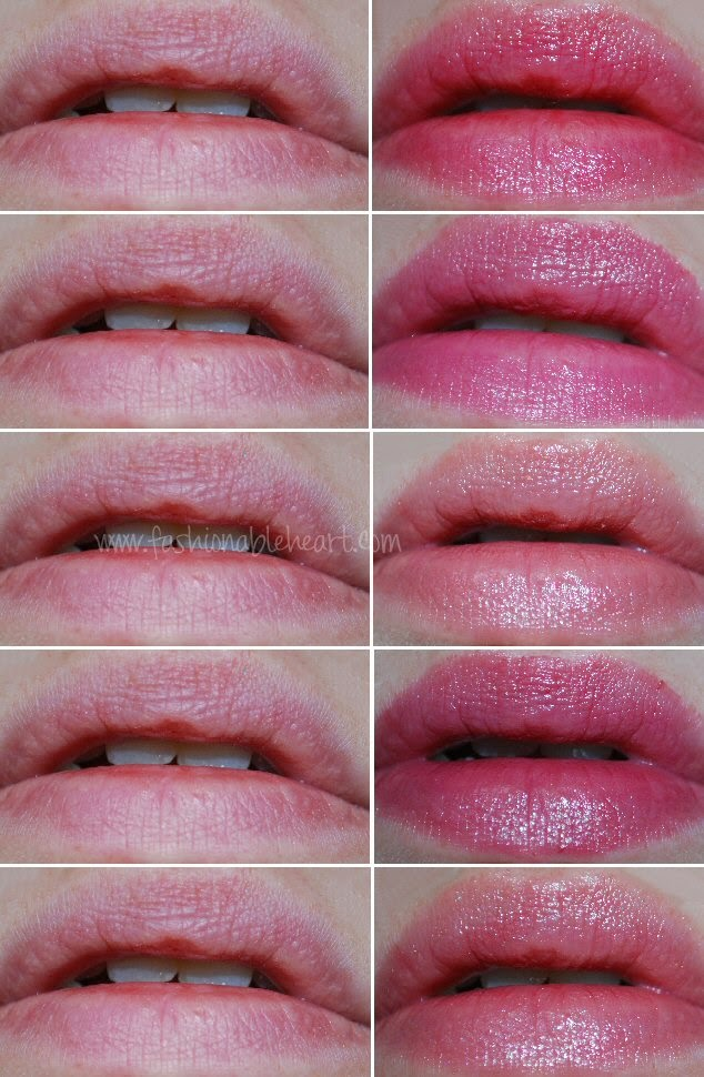Korres Revlon MAC Chanel lipsticks swatches