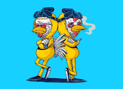 "Threadless Breaking Bad T-Shirt ""Pollos"""