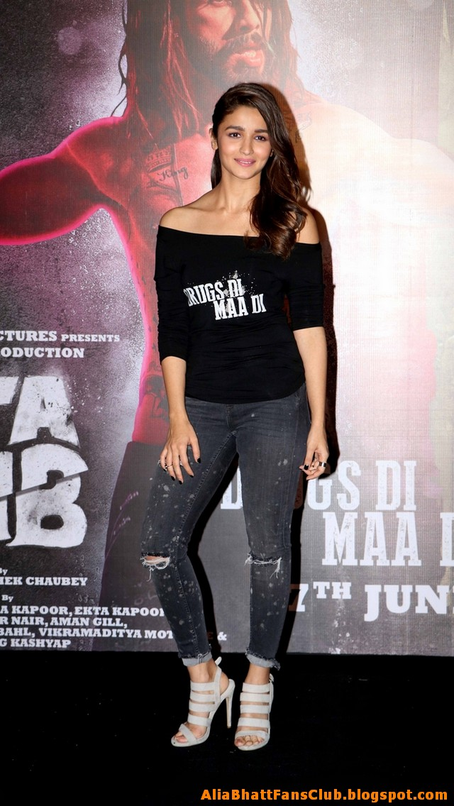 Alia Bhatt at Udta Punjab Movie Promotion Photos