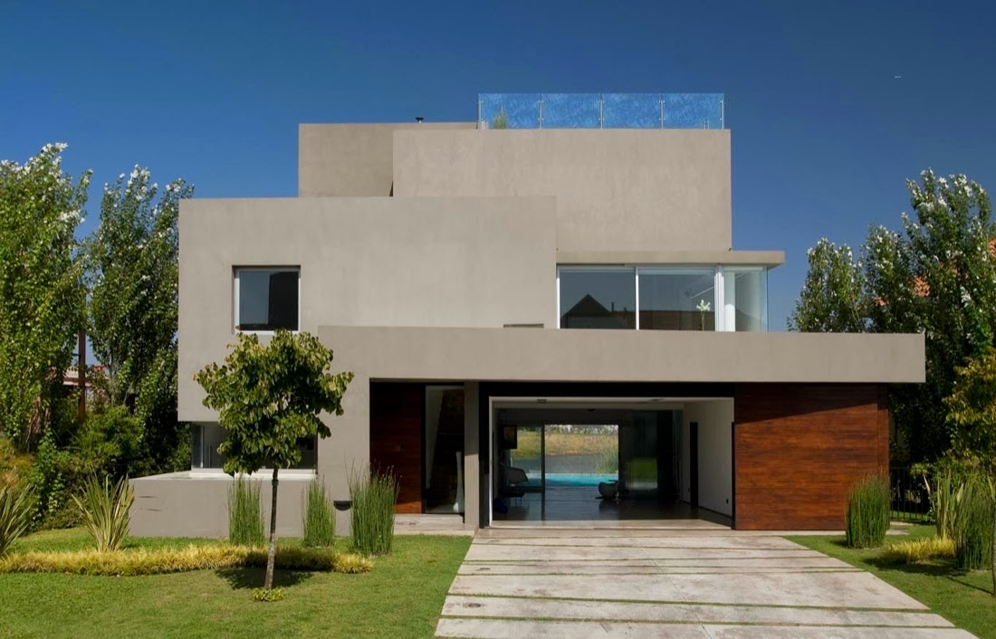 Decoracion actual de moda fachadas de casas modernas for Casa moderna 9 mirote y blancana