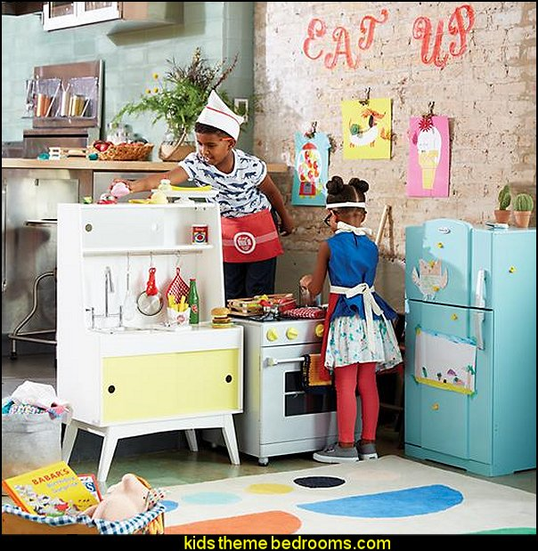 Play Kitchen and Play Food - fun playroom furniture