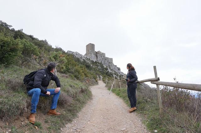 castillo de queribus subida