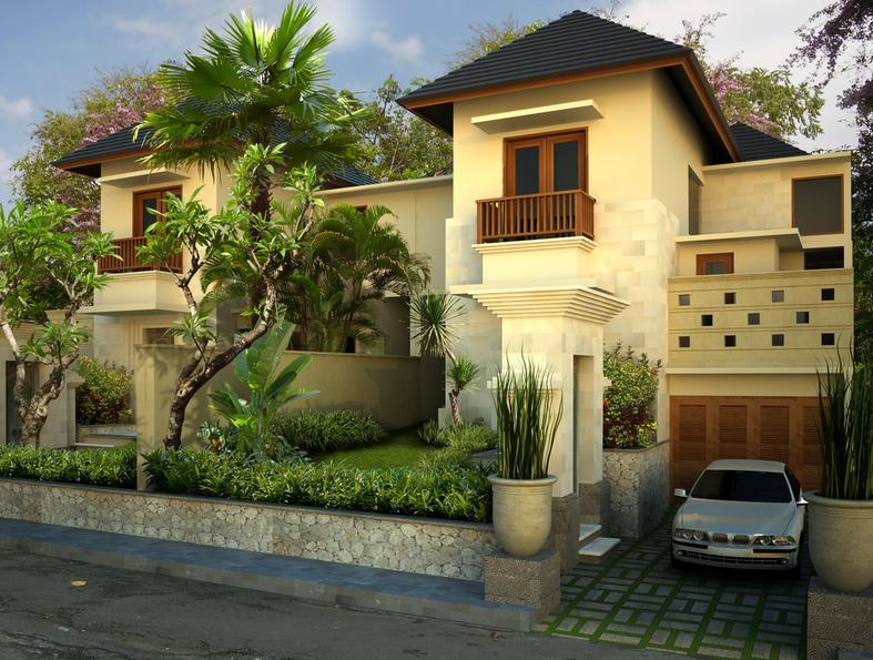 gambar modis update Contoh Desain Rumah Bali Modern Minimalis