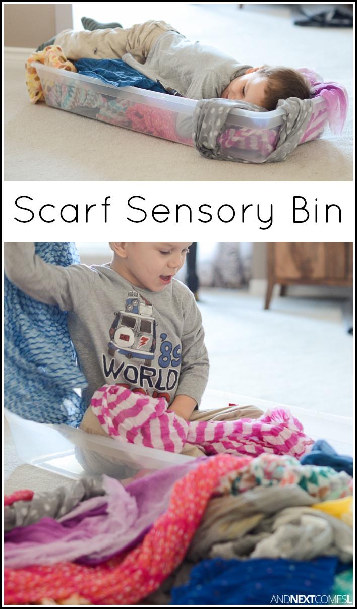 Scarf Sensory Bin | And Next Comes L