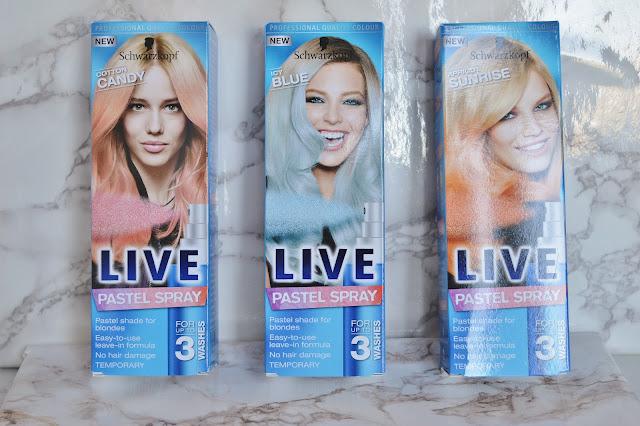 Schwarzkopf LIVE Pastel Sprays