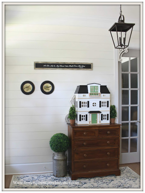 Cottage- Farmhouse Foyer-Hearth & Hand-Doll House- Joanna Gaines-Shiplap-From My Front Porch To Yours