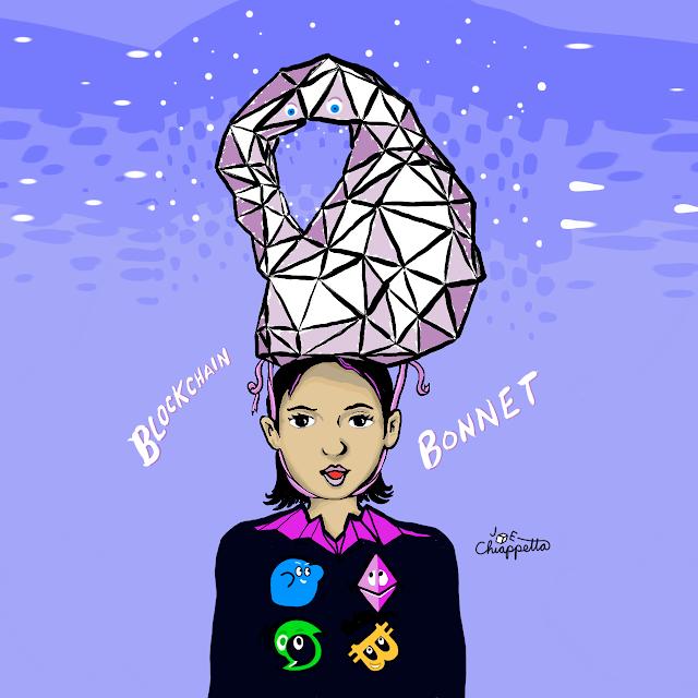 Blockchain Bonnet art by Joe Chiappetta