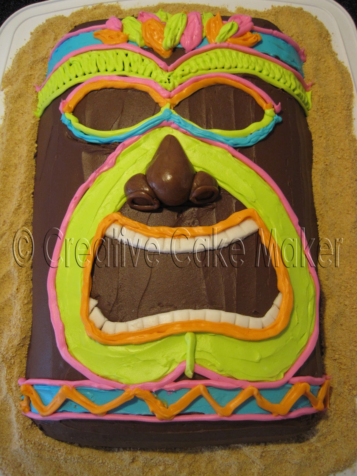 The Creative Cake Maker Tiki Man Cake