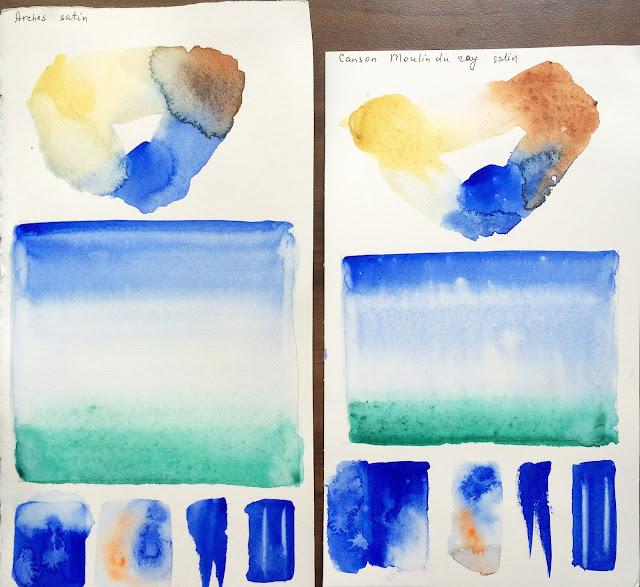 Сравнение акварельной хлопковой бумагиMoulin du Roy, Arches | Блог yainkin - Inna Yakusheva