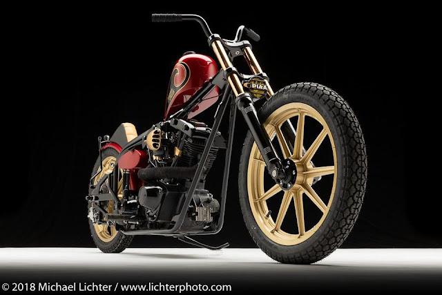 'Today Chopper' uma moto estilo 'hardtail shovelhead'
