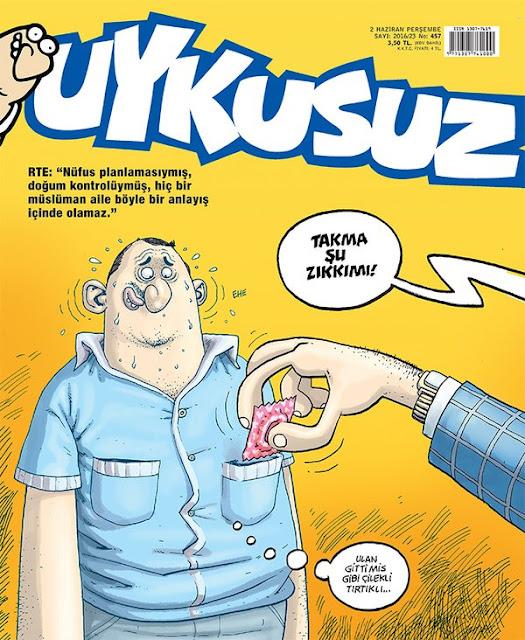 Uykusuz Dergisi - 2 Haziran 2016 Kapak Karikatürü