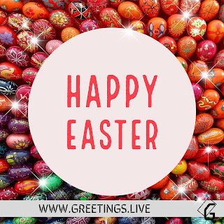 Easter Sparkling eggs wishes greetings.live HD