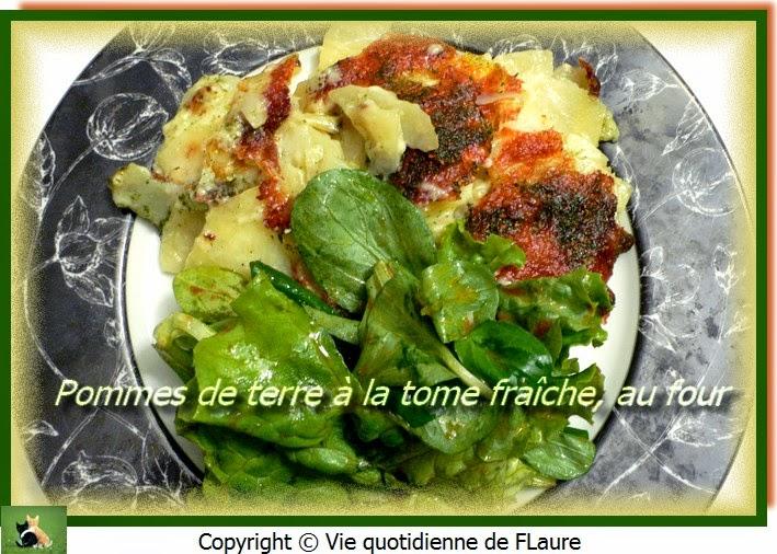 Vie quotidienne de FLaure: Pommes de terre à la tome fraîche, au four